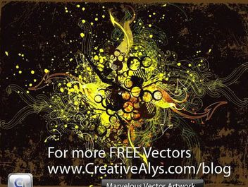 Marvelous Grungy Swirls & Splatters Background - Free vector #166567