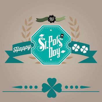Retro St Patrick's Day Card - vector gratuit #166697