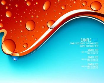 Droplets with Splitted Red Blue Background - Free vector #166727