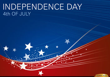 USA wavy background July 4th - vector #166747 gratis
