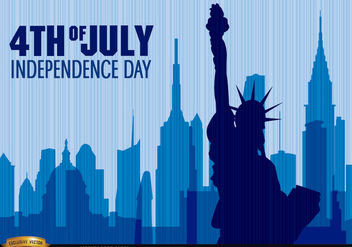Independence Day Statue of Liberty - Free vector #166767