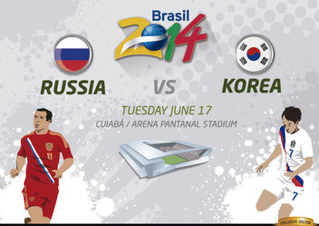 Russia Vs. Korea match for Brazil 2014 - Free vector #166797