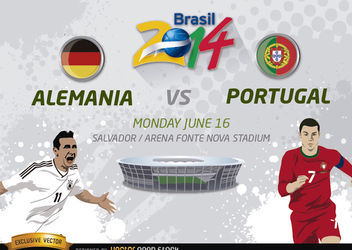 Alemania Vs. Portugal Brasil 2014 - vector gratuit #166807