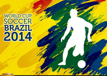 Brushstrokes World Cup Soccer Brazil player - Free vector #166867