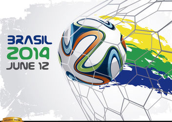Brasil 2014 WorldCup Beginning - Free vector #166887