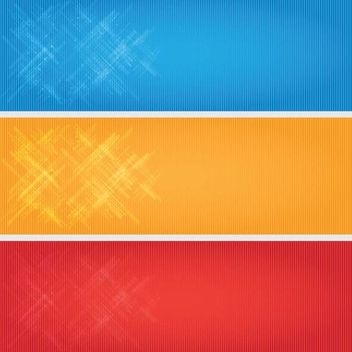 Bright Linen Banner Backgrounds - vector gratuit #166917