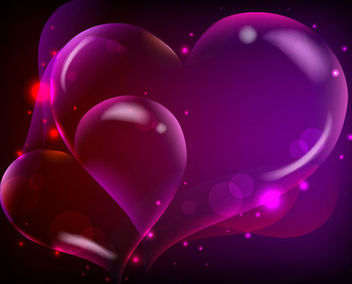 Fluorescent Darkish Heart Background with Sparkles - бесплатный vector #167007