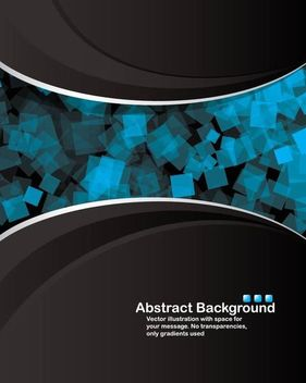 Dark Split Background with Blue Cubes in Middle - vector #167067 gratis