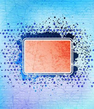 Grungy Frame Design with Blue Background - vector gratuit #167167
