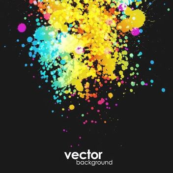 Colorful Grungy Splatter Background - vector #167247 gratis