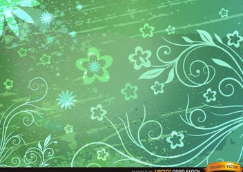 Floral Grunge Background - vector gratuit #167257