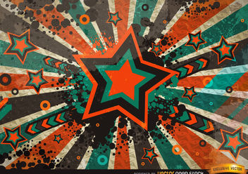 Grunge Vintage Star Background - vector gratuit #167267