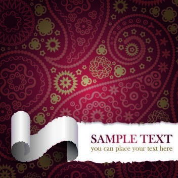 Ripped Seamless Paisley Background - vector #167277 gratis