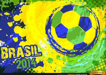 Brazil 2014 Blue green yellow football Background - vector gratuit #167297