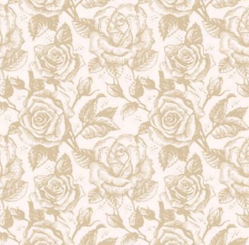 Vintage Seamless Sketchy Rose Pattern - vector #167317 gratis