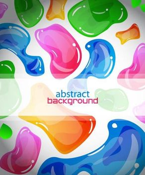 Colorful Abstract Jelly Background Template - vector gratuit #167327
