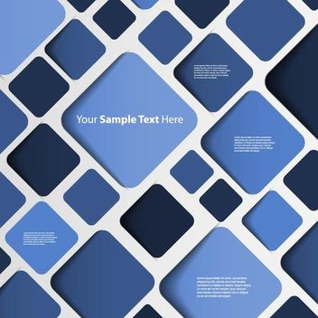 Abstract Blue Background with Rounded Squares - vector #167357 gratis