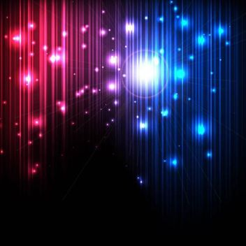 Glowing Magic Background with Lines and Lights - vector gratuit #167377
