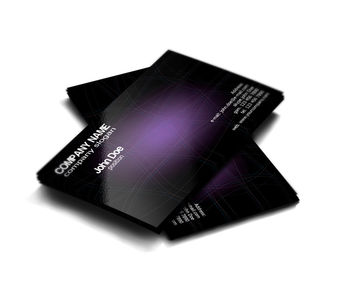 Dark and Purple Stylish Business Card - бесплатный vector #167387
