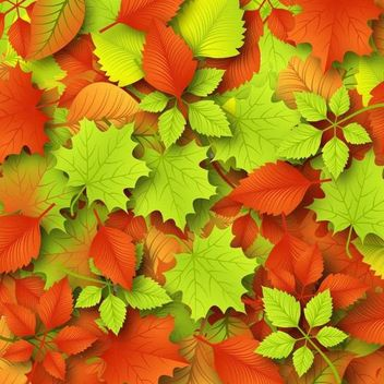 Fallen Autumn Leaves Background - Free vector #167497