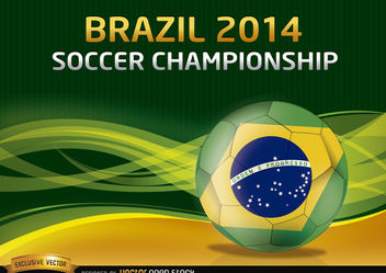 Brazil 2014 Soccer Championship Background - бесплатный vector #167517