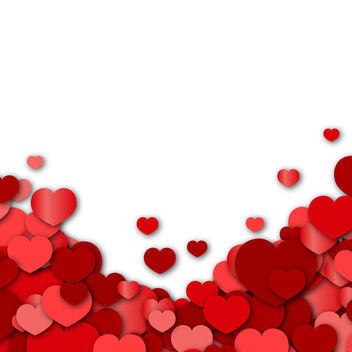 Valentine Background with Hearts - vector gratuit #167597
