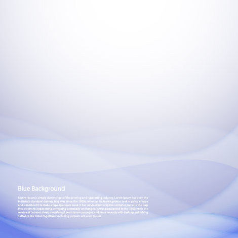 Abstract Blue Wave Background - Free vector #167647