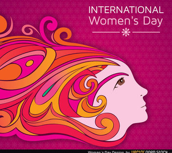 Woman's Day Design - vector gratuit #167677