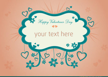 Valentines Message Background - vector #167697 gratis