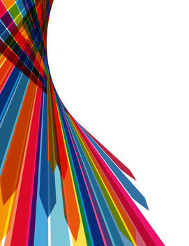 Abstract Multicolor Stripy Arrow Background - Free vector #167717