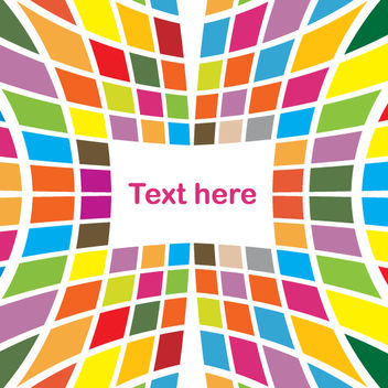 Colored Tiles Abstract Stretched Background - Free vector #167737