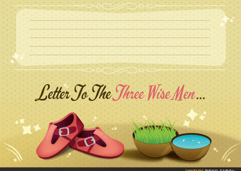 Letter to the Three Wise Men - vector gratuit #167747