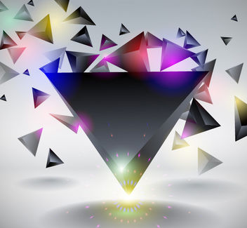Dynamic Crystallize Triangles Background - vector gratuit #167767