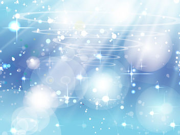Blue Sparkling Background with Sunlight - vector gratuit #167787