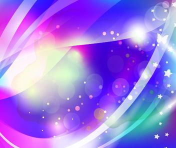 Abstract Sparkling Background with Butterfly - бесплатный vector #167807