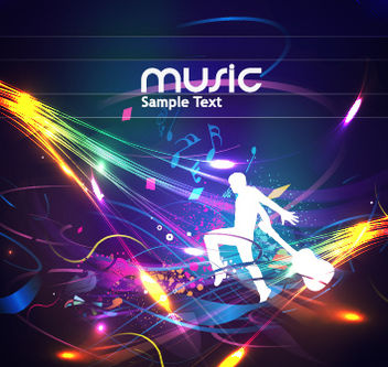 Cool Musical Poster with Ray Lights - Free vector #167817