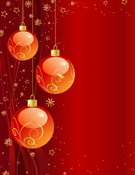 Starry & Ornamental Reddish Xmas Background - Free vector #167847