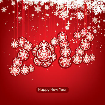 New Year & Xmas Ornamental Background - Free vector #167887
