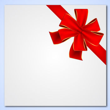 Detailed Gift Ribbon Tied on a Paper - vector gratuit #167907