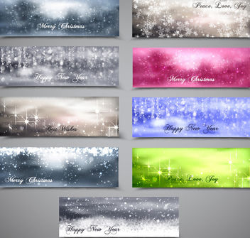 Blurry & Snowy Xmas Banner Pack - Free vector #167917