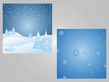 2 Snowy Seasonal Backgrounds - vector gratuit #167937