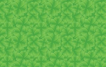 St Patrick Day Clover Pattern - Free vector #168087
