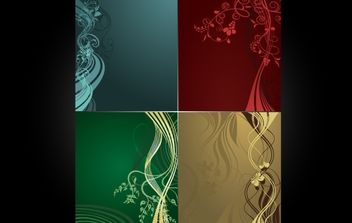 Curly Floral and Swirls Layout Pack - vector #168157 gratis