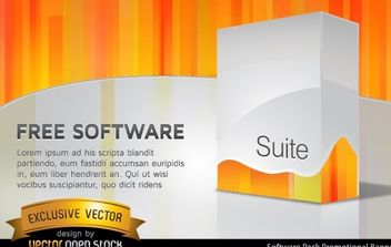 Software pack promotional banner - vector gratuit #168187