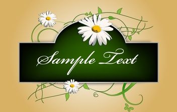 Green Flourish Banner Template - vector #168217 gratis