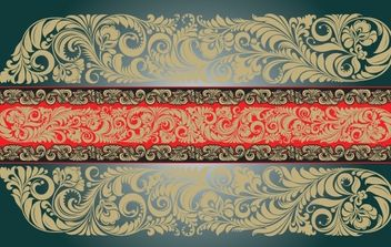 Vintage Floral Ornament Shape - бесплатный vector #168237