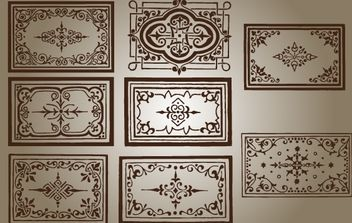Marcos Vintage Wall Decal - vector gratuit #168267