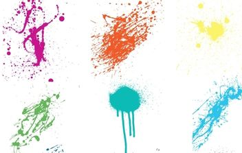 Crazy Colorful Vector Splatters - vector #168377 gratis