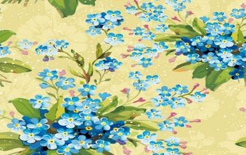 Floral Flowers background - Free vector #168417