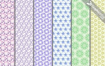 6 Vector Repeating Patterns - Free vector #168557